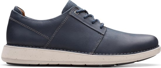 Clarks Un LarvikLace2 Heren Veterschoenen - Navy Leather - Maat 40