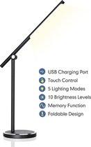 Aigostar Vince - LED  Bureaulamp - Dimbaar - 8W - Zwart