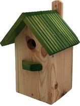 Garden Spirit - Vogelhuisje Nestkast Boswachtershuisje Koolmees - Hout - Groen - Vogels