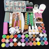 Acrylnagels Starterspakket - Manicure set -  Nail Art - 42 kleuren Acryl Poeders/Glitters -  500 Franse Tips - 71 delig Acryl nagel set - Oefenset Nagel - Nagelstyliste - Acryl poeders/Glitters - Acryl poeder - Acryl Pencelen - Acryl liquid