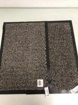 2 stuks - deurmat - wit met zwart - 40x60cm