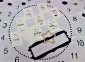 Mijlpaaldeken+Mijlpaalkaarten, Baby-Kraamcadeau-Fotodeken-Handlettering-100x150cm-Met 2 Frames-Milestone Blanket- Foto Deken-Flanel-Kraamcadeau-New Born-Babyshower-Fotoherinnering-Cadeau-Fotoshoot-Set