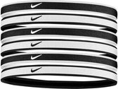 Nike Hairbands 6-Pack Zwart/Wit/Grijs