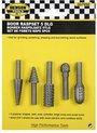 Boor Raspset 5 delig rasp voor hout kunststof en zachte metalen