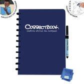 Whiteboard notitieblok / schrift - Correctbook - A4 - Gelijnd - Blauw