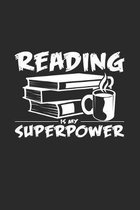 Reading superpower: 6x9 Reading - dotgrid - dot grid paper - notebook - notes