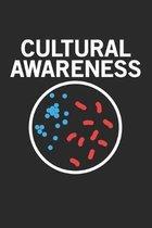 Cultural Awareness: Mikrobiologie Bakterienwissenschaft Notizbuch liniert DIN A5 - 120 Seiten f�r Notizen, Zeichnungen, Formeln - Organize