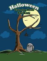 Halloween Coloring Books For Kids: Happy Creepy Halloween Party Coloring Book For Kids