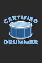 Certified drummer: 6x9 - dotgrid - dot grid paper - notebook - notes