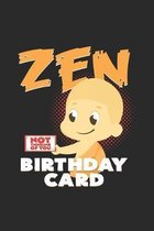 Zen birthday card: 6x9 Buddha - dotgrid - dot grid paper - notebook - notes