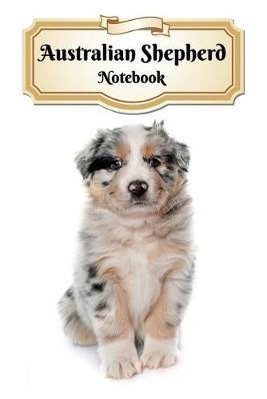 Australian Shepherd Notebook: Puppy - Composition Book 150 pages 6 x 9 in. - 5x5mm Graph Paper - Writing Notebook - Grid Paper - Soft Cover - Drawin