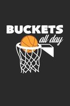 Buckets all day: 6x9 Basketball - grid - squared paper - notebook - notes