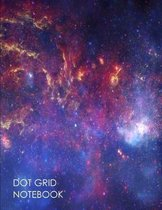 Dot Grid Notebook: 100 Dot Grid pages ( Space )