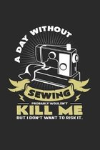 A day without sewing: 6x9 Sewing Machine - grid - squared paper - notebook - notes