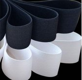 zwart band elastiek - 2,5 m x 2 cm - bandelastiek - stevige kwaliteit - 20 mm breed - blister 2,5 m