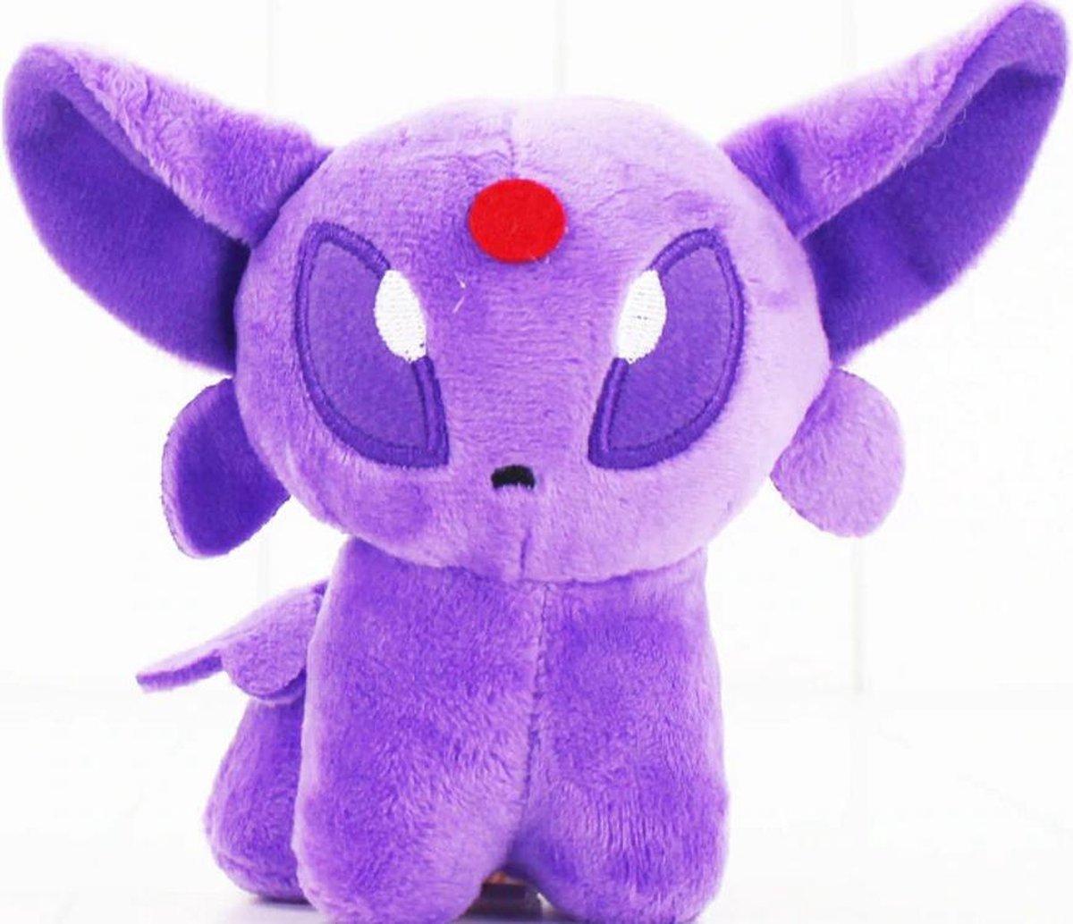 Knuffel Pokemon Espeon - bekend van de TV - creator - Pokémon - pokéball - speelgoed - Plushe