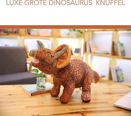 Bol Com Luxe Grote Dinosaurus Knuffel Triceratops 45 Cm Lang Prachtige Decoratie Voor Een