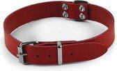 Nobby Halsband - Hond - Leer - 65 cm - Halsmaat 50 tot 57 cm - Rood