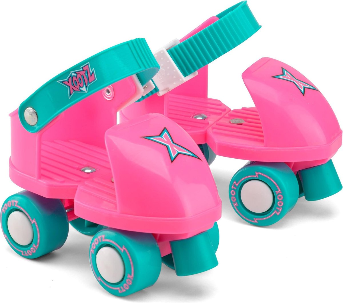 Xootz Rolschaatsen Infant Trainer Meisjes Roze/turquoise Maat 23/27