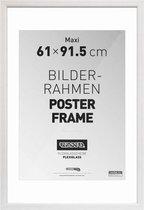 Wissellijst voor Posters 61x91,5 cm - Wit- Hout - Romantisch