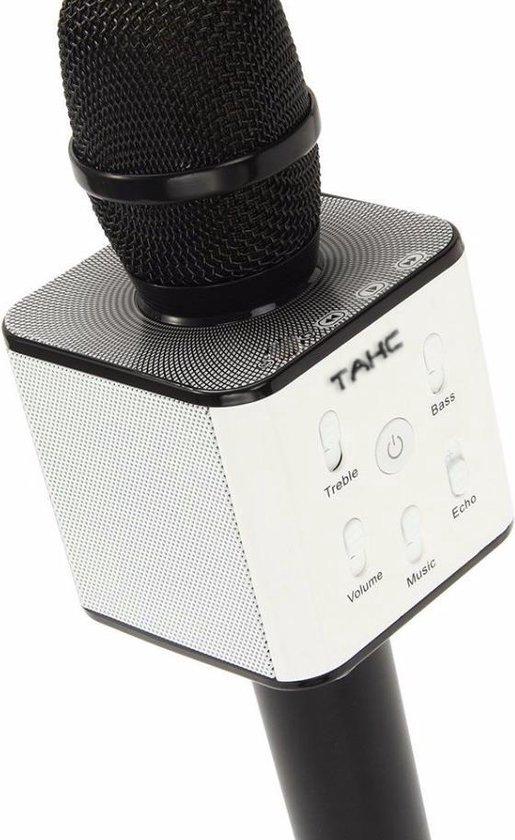 TAKC - Zwarte Karaoke Microfoon - Draadloze bluetooth microfoon - Draadloos karaoke microfoon - Zwart -
