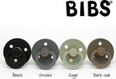 BIBS fopspenen  0 6 maanden Set 4 stuks| black, smoke, sage, dark oak |Maat 1 (T1)