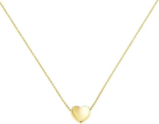 Lucardi - Geelgouden ketting met hanger hart