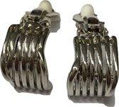 Clipoorbel zilverkleurig streepjes