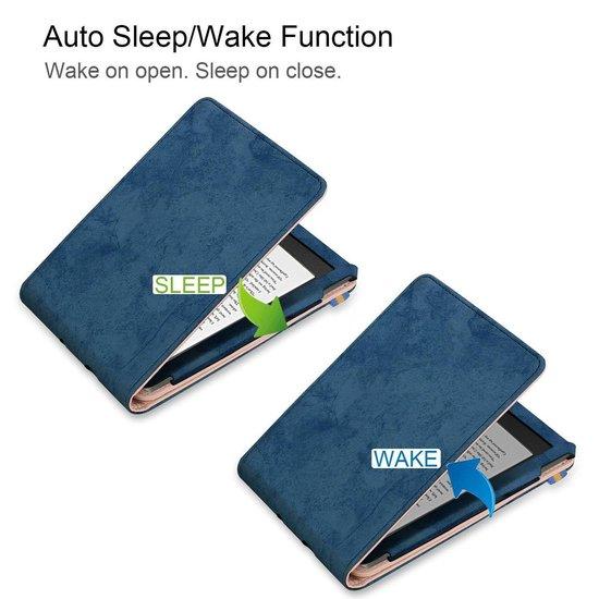 Kobo Clara HD e-Reader Premium Hoes Case Cover Donker Blauw - Stand - Beschermhoes - Sleepcover