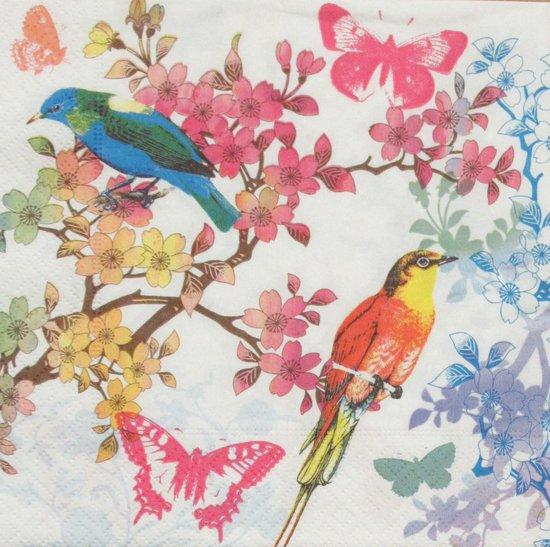 Servetten Birds of Paradise 33 x 33 cm