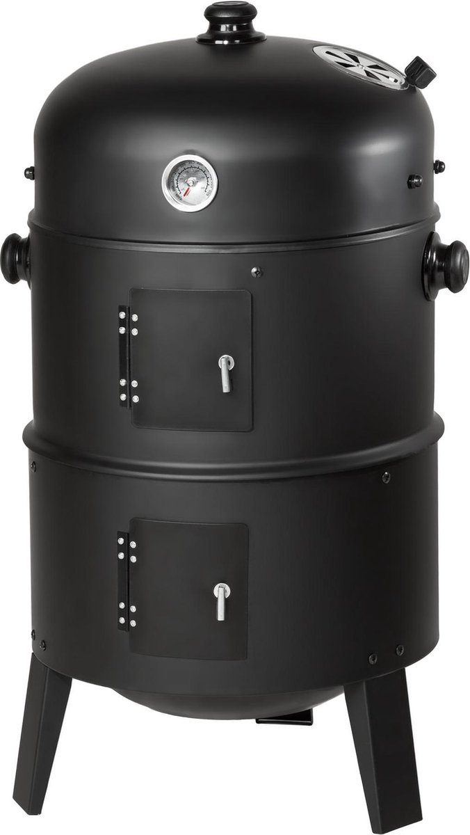 Tectake Charcoal Grill Rookoven - Zwart