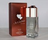 CADEAU, VOOR JE GELIEFDE,  Je t 'Aime Mon Amour een heerlijke zacht geur van Jasmijn, Roos en Muskus. (Ik hou van jou)