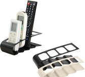 Afstandsbedieningen houder | 4 vakken | zwart | Houder voor afstandsbedieningen