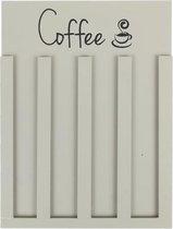 Houten coffee (koffie) cup houder grijs