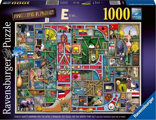 Ravensburger puzzel Awesome Alphabet E & F – Legpuzzel – 1000 stukjes