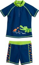 Playshoes UV zwemsetje Kinderen Krokodil - Blauw - Maat 98/104