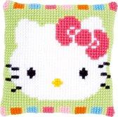 Kruissteekkussen kit Hello Kitty in pastel - Vervaco - PN-0153796
