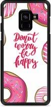 Galaxy A8 Plus 2018 Hardcase Hoesje Donut Worry