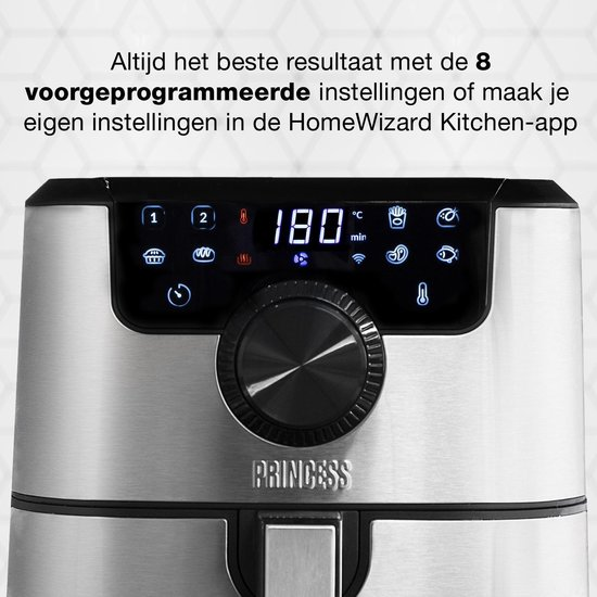 Princess 182037 Smart Aerofryer - Met App bedienbaar