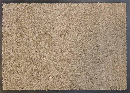 Ecologische droogloopmat taupe - 88 x 118 cm