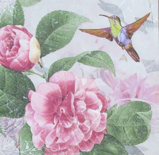 Servetten Hummingbird Dance 33 x 33 cm