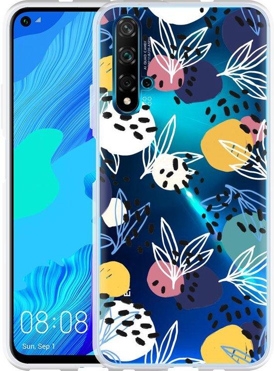 Huawei Nova 5T Hoesje Abstract Flowers