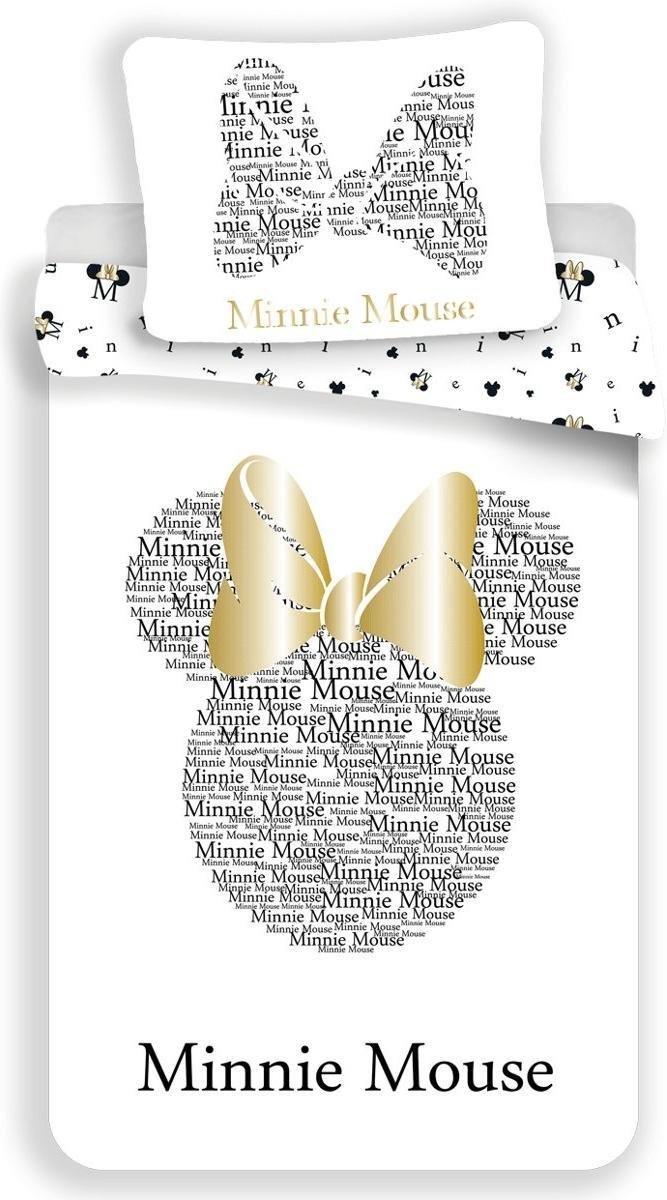 Dekbedovertrek- Disney Minnie Mouse Gold- Eenpersoons -140x200 cm - Goud kopen