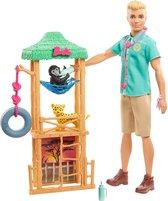 Barbie Ken Dierenarts Wilde Dieren Speelset - Barbiepop