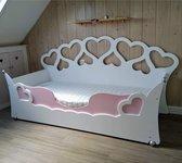 Kinderbed van wildkidzz.com hartjesbed 90x200 cm met polyethermatras 14 cm dik!! ALL-IN aanbieding.