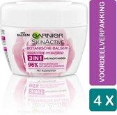 Garnier Nachtcrème Skinactive Botanische Balsem Rose Droge Huid 4 x 140 ml Voordeelverpakking