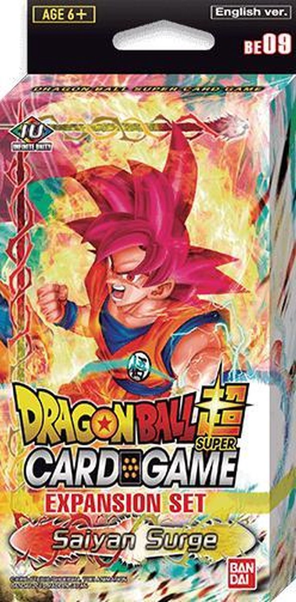Afbeelding van product Dragon Ball Z  Dragon Ball Super Saiyan Surge Expansion Set BE09 - 3 Booster Packs - 13 Promo Kaarten - TCG - SCG - Card Game