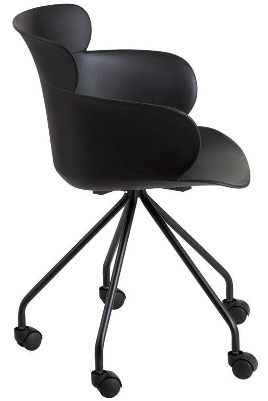 j line bureaustoel eva zwart 81 x 56 x 53,5 | wants&needs