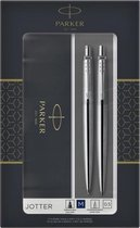 Balpen en vulpotlood Parker Jotter Steel zilver