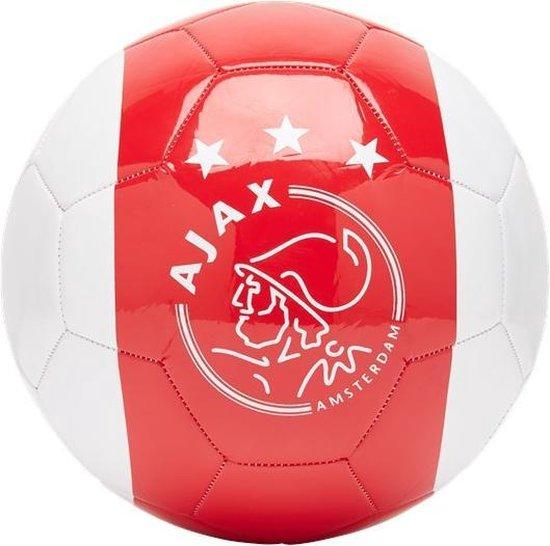 Ajax Voetbal 3 Kruizen wit/rood